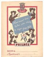 Protège Cahier PHILBEE Nous Aimons Tous Le Bon D´épices De Dijon PHILBEE, Années 1960 Environ - Protège-cahiers