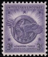 UNITED STATES - Scott #940 Veterans Of World War II (*) / Mint NH Stamp - Verenigde Staten