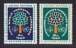 NATIONS UNIES NEW-YORK N°   78 & 79 * MLH Neufs Avec Charnière, TB  (D1328) - New-York - Siège De L'ONU