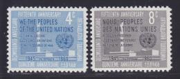 NATIONS UNIES NEW-YORK N°   80 & 81 * MLH Neufs Avec Charnière, TB  (D1324) - New-York - Siège De L'ONU