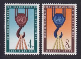 NATIONS UNIES NEW-YORK N°   82 & 83 * MLH Neufs Avec Charnière, TB  (D1326) - New-York - Siège De L'ONU