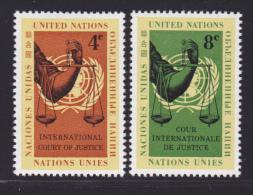 NATIONS UNIES NEW-YORK N°   84 & 85 * MLH Neufs Avec Charnière, TB  (D1329) - New-York - Siège De L'ONU
