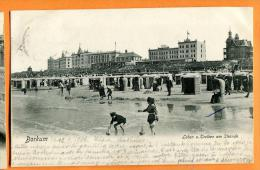 PBM-05  Borkum  Leben U. Treiben Am Strande. BElebt. Pioneer. Gelaufen In 1906 Nach Schweiz - Borkum