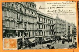 PBM-12 Recuerdo De Buenos Aires Avenida De Mayo Y Buen Orden . Précurseur. Cachet Frontal 1904 Pour La Suisse. - Argentine