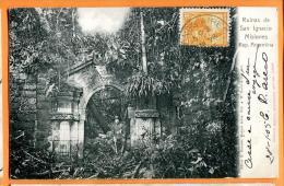 PBM-13 Ruinas De San Ignacio Misiones . Précurseur. Cachet Frontal 1905 Pour La Suisse. - Argentine