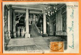 PBM-14  Buenos Aires Escalera Del Jockey Club . Précurseur. Cachet Frontal 1904 Pour La Suisse. - Argentine