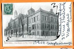 PBM-15  Montreal High School On Peel Street . Précurseur. Cachet Frontal 1904 Pour La Suisse. - Montreal