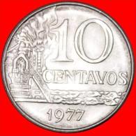 ★FACTORY: BRAZIL ★ 10 CENTAVOS 1977 MINT LUSTER! LOW START★NO RESERVE! - Brazil
