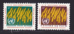 NATIONS UNIES NEW-YORK N°  112 & 113 * MLH Neufs Avec Charnière, TB  (D1337) - New-York - Siège De L'ONU