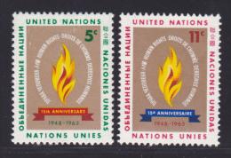 NATIONS UNIES NEW-YORK N°  117 & 118 * MLH Neufs Avec Charnière, TB  (D1336) - New-York - Siège De L'ONU