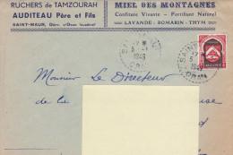 """ALGERIE. Enveloppe """"RUCHERS DE TAMZOURAH.  SAINT-MAUR. ORANIE - Factures & Documents Commerciaux"""