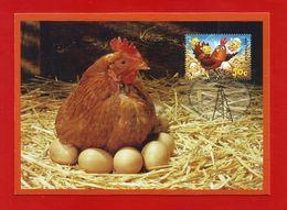 Australien 2005  Mi.Nr. 2492 , Chloe The Chicken - Maximum Card - First Day 4. Oct. 2005 - Maximumkarten (MC)