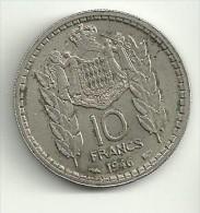 Monaco 10 Francs 1946 - 1922-1949 Luigi II