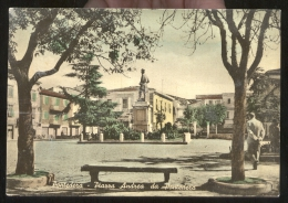 PONTEDERA - PISA - 1957 - PIAZZA ANDREA DA PONTEDERA. ANIMATA. ACQUERELLATA. - Pisa