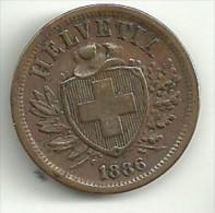 Switzerland 2 Rappen 1886 - Switzerland