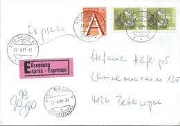 Express Brief  Brugg AG - Bettingen             1995 - Brieven En Documenten