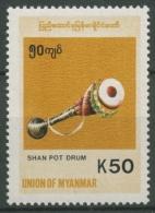 Birma (Myanmar) 1999 Freimarke: Einheimische Instrumente 347 Postfrisch - Myanmar (Burma 1948-...)