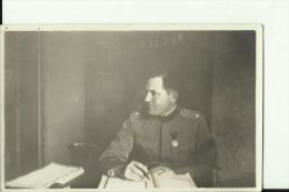 KINGDOM OF YUGOSLAVIA, SERBIA   --  ORIGINAL PHOTO    --   OFFICER WITH ORDEN --    14  Cm  X 9 Cm - Militaria