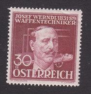 Austria, Scott #B148, Mint Hinged, Josef Werndl, Issued 1936 - Ungebraucht