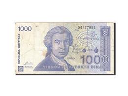 Croatie, 1000 Dinara, 1991-1993, KM:22a, 1991-10-08, TB - Croatie