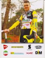 Cycling Card DYLAN BOUWMANS Cyclo-cross Team GUERCIOTTI 2015 / 16 Italy - Ciclismo