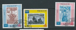 Paraguay 1986 Ameripex Stamp On Stamp Airmail Set Of 3 Singles VFU - Paraguay