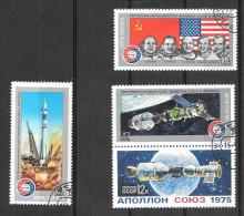 1975 USSR Apollo-Soyuz Set Of 4, CTO - Russia & USSR