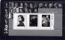 Canada, 2008, # 2271., ART CANADA: AUBURN, CHURCHILL & YOUSUF KARSH   SS  MNH - Blocs-feuillets