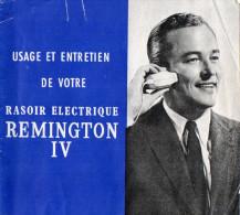 NOTICE RASOIR ELECTRIQUE REMINGTON IV  Usage Et Entretien - Catalogues