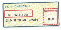 Czech Rep. / APOST (2002) 537 01 CHRUDIM 1 (A02270) - Czech Republic
