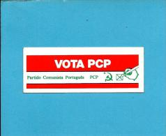 ELEIÇÕES  LEGISLATIVAS  1976  - VOTA PCP - Autocolante Sticker Política - PORTUGAL - Autocollants
