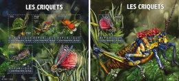 CENTRAL AFRICA 2015 ** Locusts Heuschrecken M/S+S/S - OFFICIAL ISSUE - A1552 - Sonstige