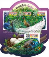 SIERRA LEONE 2015 ** Peacocks Pfauen M/S - OFFICIAL ISSUE - A1552 - Paons