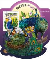 SIERRA LEONE 2015 ** Peacocks Pfauen S/S - OFFICIAL ISSUE - A1552 - Paons