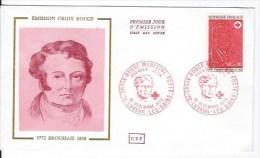 FDC Enveloppe Et CPSM  Croix Rouge,François Broussais - 1970-1979