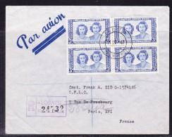 Bechuanaland  1947 Royal Visit REGISTERED R24732   Cover Lobatsi  To Paris - Bechuanaland (...-1966)