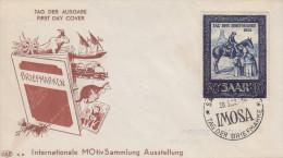Enveloppe  1er  Jour  SARRE  Journée  Du  Timbre   SAARBRÜCKEN   1952 - FDC