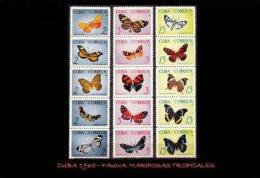 CUBA/KUBA 1965 MARIPOSAS TROPICALES MNH - Cuba
