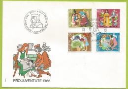 Suisse 1985 1233 à 1236 FDC Contes Des Frères Grimm - Fairy Tales, Popular Stories & Legends