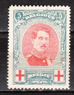 132A*  Albert Ier Grand Médaillon - Bon Timbre - MH* - LOOK - X069!!!! - 1914-1915 Cruz Roja