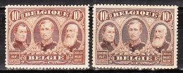 149/49a*  Les 3 Rois - Les 2 Nuances - MH* - LOOK - X070!!!! - 1915-1920 Alberto I