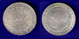 500 Schilling Silber Ag 1981 Anton Wildgans - Oesterreich