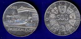500 Schilling Silber Ag 1983 Parlament #1 - Oesterreich
