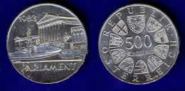 500 Schilling Silber Ag 1983 Parlament #2 - Oesterreich