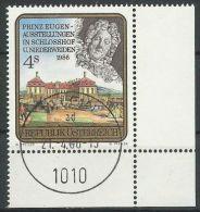 ÖSTERREICH 1986 MI-NR. 1845 ECKRAND O Used - Aus ABO (84) - 1981-90 Gebraucht