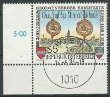 ÖSTERREICH 1986 MI-NR. 1855 ECKRAND O Used - Aus ABO (84) - 1981-90 Gebraucht