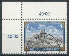 ÖSTERREICH 1986 MI-NR. 1857 ECKRAND O Used - Aus ABO (84) - 1981-90 Gebraucht