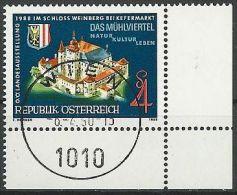 ÖSTERREICH 1988 MI-NR. 1924 ECKRAND O Used - Aus ABO (84) - 1981-90 Gebraucht