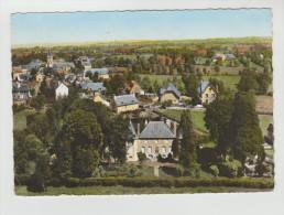 CPSM CHAUSSENAC (Cantal) - En Avion Au-dessus De.....Le Château Et Vue D'ensemble - France