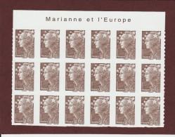 "209 De 2008 - (4227) - Neuf ** Adhésif.   ""MARIANNE ET L´EUROPE""  Bloc  De 18 Timbres - Marianne De  Beaujard De 5c. - Autoadesivi"